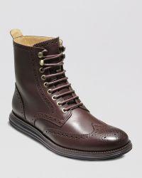 Cole Haan Lunargrand Wingtip Boots - Lyst