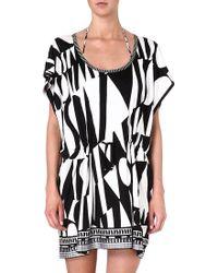 Missoni Graphic-printed Tunic Black-white - Lyst