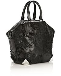 Alexander Wang Prisma Emile Tote in Wet Black with Rhodium - Lyst