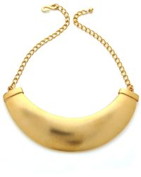 Kenneth Jay Lane Plate Necklace Gold - Lyst