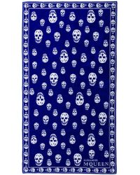 Alexander McQueen Skull Towel - Blue