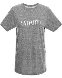 Rodarte Radarte Grey T-Shirt With Metallic Foil - Lyst