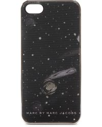 Marc By Marc Jacobs Iphone 5  5slenticular Cosmic Case - Metallic Silver - Lyst