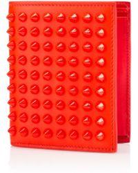 Christian Louboutin Paros Spikes Wallet orange - Lyst