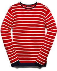 Forever 21 Striped Cotton-Blend Sweater - Lyst