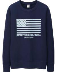 Uniqlo Men Brooklyn Machine Works Graphic Sweat Long Sleeve Shirt - Lyst