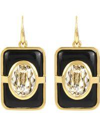 Diane von Furstenberg | Rectangle Drop Earrings | Lyst
