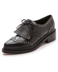 Rebecca Minkoff Hollis Oxfords - Black - Lyst