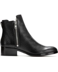 3.1 Phillip Lim Alexa Leather Shearling-Lined Ankle Boots - Lyst