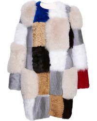 Roksanda Sandblack Patchwork Fur Coat - Lyst