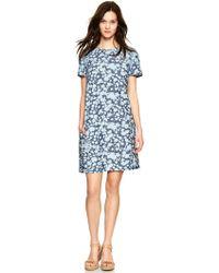Gap Floral Chambray Shift Dress - Blue