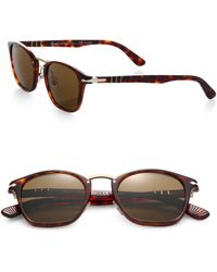 Persol 49Mm Square Sunglasses - Lyst