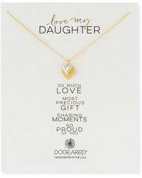 Dogeared | Love My Daughter Pendant Necklace | Lyst