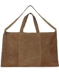 TOPSHOP - Real Suede Luggage Bag - Lyst