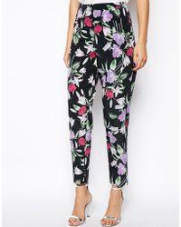 Asos Pants In Floral Print floral - Lyst