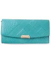 Burberry London Check Stamp Wallet - Lyst
