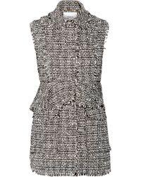 Erdem Dorina Convertible Cotton-Blend Tweed Vest - Lyst