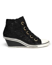 Ash 'Glen' Lace Wedge Sneakers - Lyst