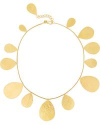 Herve Van Der Straeten Hammered Goldplated Necklace - Lyst