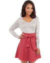 Tropical Wear - Musee Matisse Skirt In Red Dots - Lyst