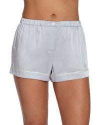 Araks Shelby Silk Short-Sleeve Pajama Top blue - Lyst
