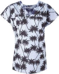 Tomas Maier Palm Print Top - Lyst