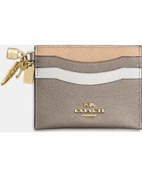 COACH | Charm Flat Card Case In Colorblock Leather | Lyst
