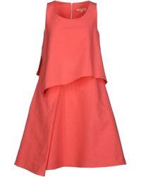 Hache Short Dress - Lyst