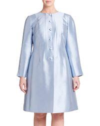 Lafayette 148 New York Cotton & Silk A-Line Jacket blue - Lyst