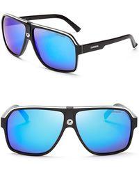 Carrera Mirrored Navigator Sunglasses black - Lyst