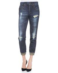 Rag & Bone - Sheffield Distressedprint Pajama Jeans - Lyst