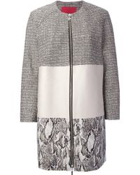 Moncler Gamme Rouge Panelled Coat - Lyst