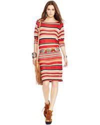 Polo Ralph Lauren Jacquard-Knit Dress - Lyst