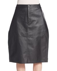 Junya Watanabe | Faux Leather Pencil Skirt | Lyst