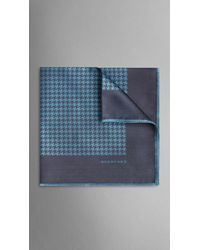 Burberry Houndstooth Silk Pocket Square - Lyst