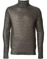 Diesel Black Gold Kifurt Turtle Neck Sweater - Lyst