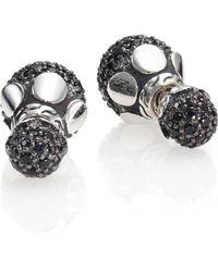 John Hardy   Dot Black Sapphire & Sterling Silver Stud Earrings   Lyst