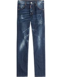 DSquared² Distressed Straight Leg Jeans - Lyst
