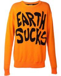 Jeremy Scott Earth Sucks Sweater - Lyst