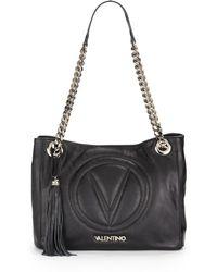 Valentino Luisa 2 Embossed Leather Shoulder Bag - Lyst