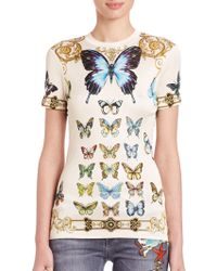 Versace | Butterfly-print Tee | Lyst