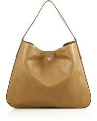 prada nylon baby bag - Furla Daino Melody Leather Messanger Bag in Brown (Daino)   Lyst