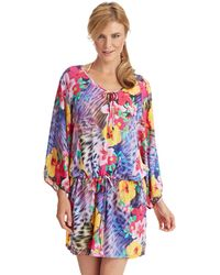 Nanette Lepore Playa Tropical Swim Tunic Cover Up - Lyst
