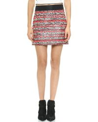 Milly Couture Tweed Miniskirt  Multi - Lyst