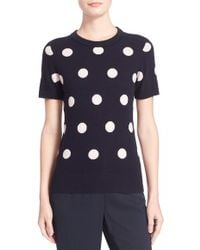 Kate Spade | Intarsia Dot Short Sleeve Sweater | Lyst
