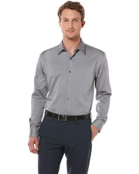 Perry Ellis Textured Button-Down Shirt - Lyst