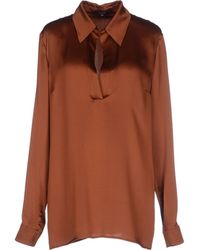 Gucci Brown Blouse - Lyst
