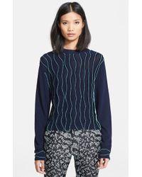 3.1 Phillip Lim Textured Crewneck Sweater - Lyst