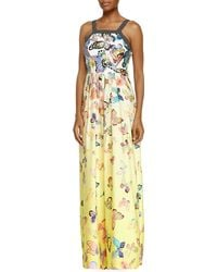 Ranna Gill - Sleeveless Butterfly Maxi Dress - Lyst