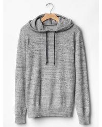Gap Marled Hooded Sweater - Lyst